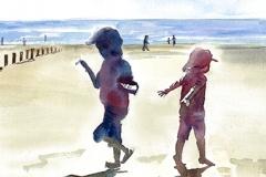 Dylan & Daisy on the beach