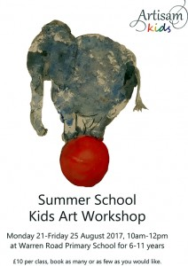 Artisam Kids Summer Workshop