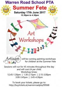 Warren Road Fete Art Workshop