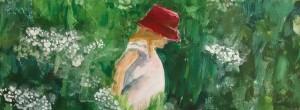Daisy in grass - Acrylic