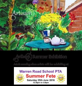 Fete Summer Exhibition Poster